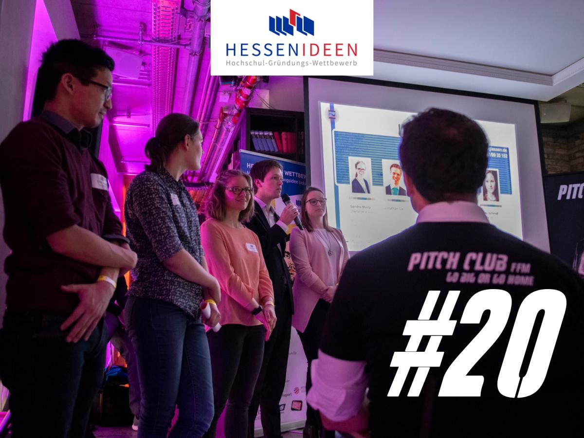"""Pitch Club 20 in Kooperation mit """"Hessen Ideen"""""""